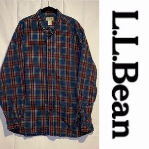 LL BEAN Men's Size XL TALL Shirt Flannel VINTAGE
